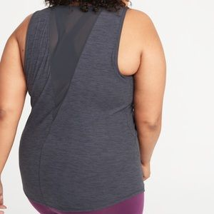 Mesh back workout shirt - old navy plus size